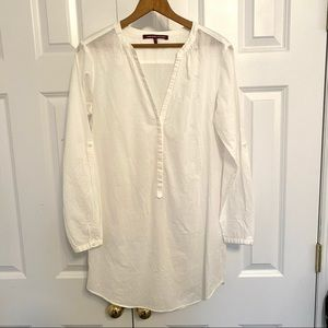 Comptoir Des Cotonniers White Cotton Tunic Blouse